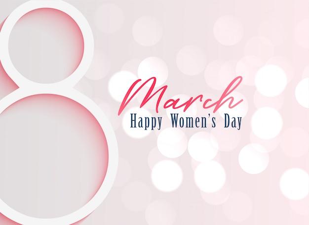 Fondo feliz celebración del día de la mujer. vector gratuito