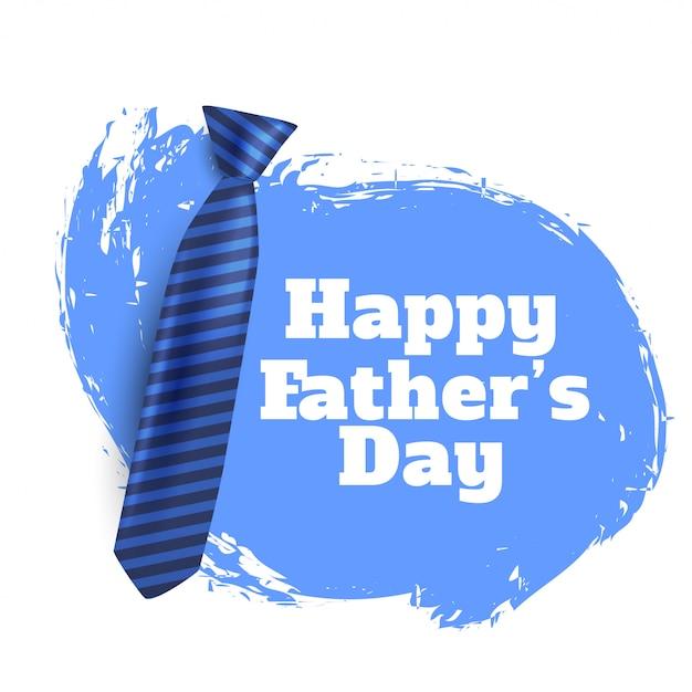 Fondo feliz del día del padre con corbata realista vector gratuito