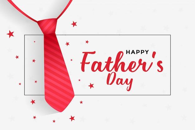 Fondo feliz del día de padres con corbata roja vector gratuito
