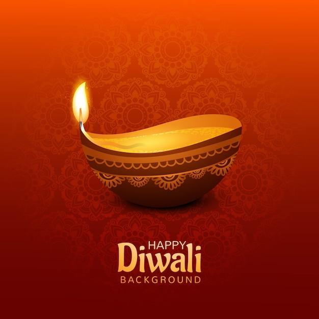Fondo feliz diwali vector gratuito