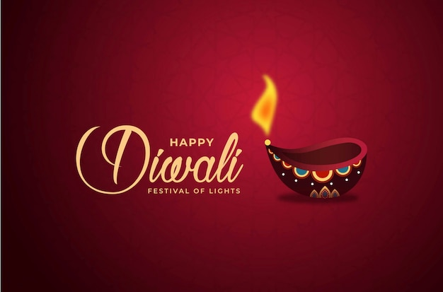 Fondo feliz de diwali Vector Premium
