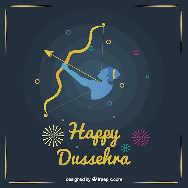 Fondo de feliz dusshra vector gratuito