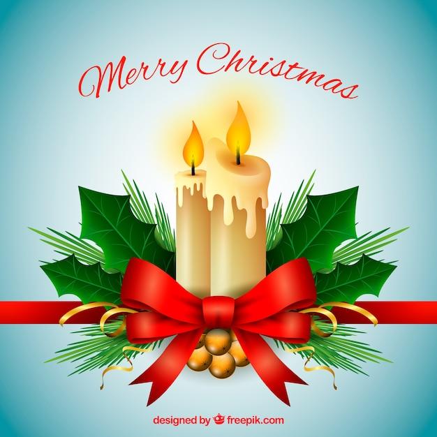 Fondo De Feliz Navidad Con Adornos Navidenos Y Velas Descargar - Velas-de-navidad