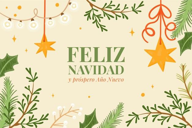 Fondo feliz navidad dibujado a mano vector gratuito