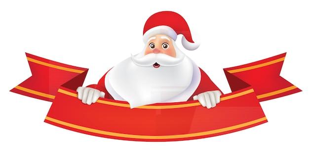Fondo feliz navidad con santa claus Vector Premium
