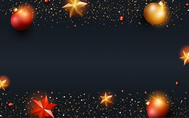 Fondo feliz navidad para tarjeta de felicitación Vector Premium