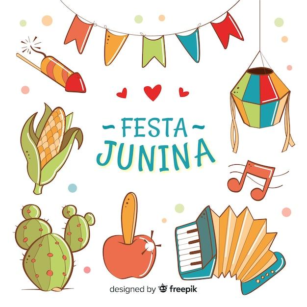 Fondo de festa junina vector gratuito