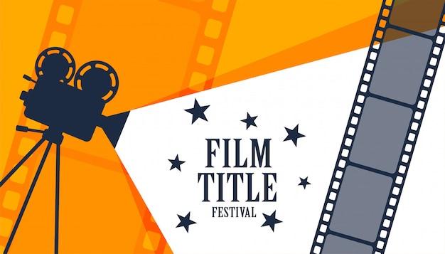 Fondo de festival de cine de cine vector gratuito
