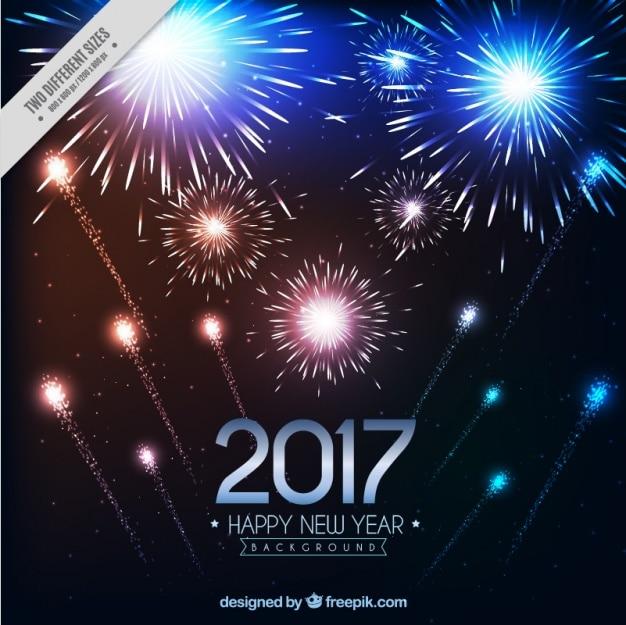 Fondo De Fiesta De Ano Nuevo De Fuegos Artificiales Descargar