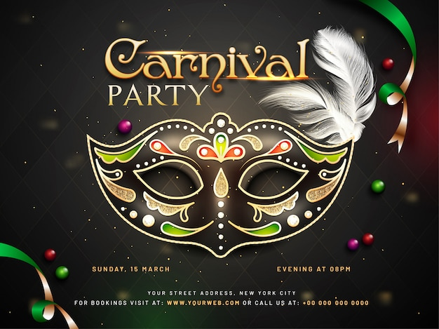 Fondo de fiesta de carnaval. Vector Premium