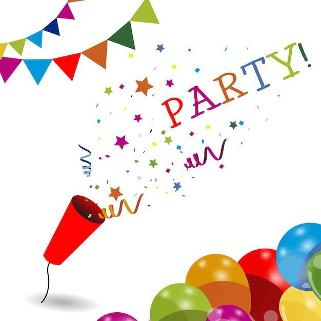 Fondo de fiesta colorido vector gratuito