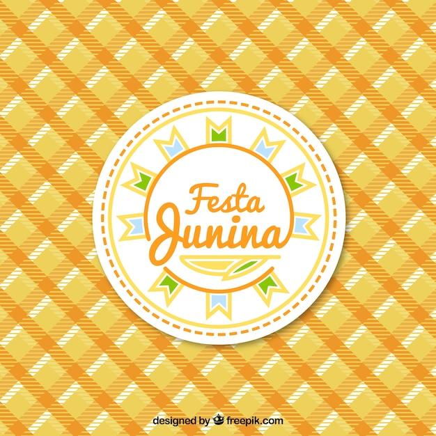 Fondo de fiesta junina con un mantel vector gratuito