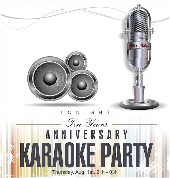 Fondo de fiesta de karaoke Vector Premium