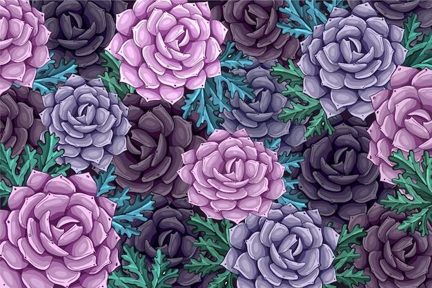 Fondo de flor realista pintado a mano vector gratuito