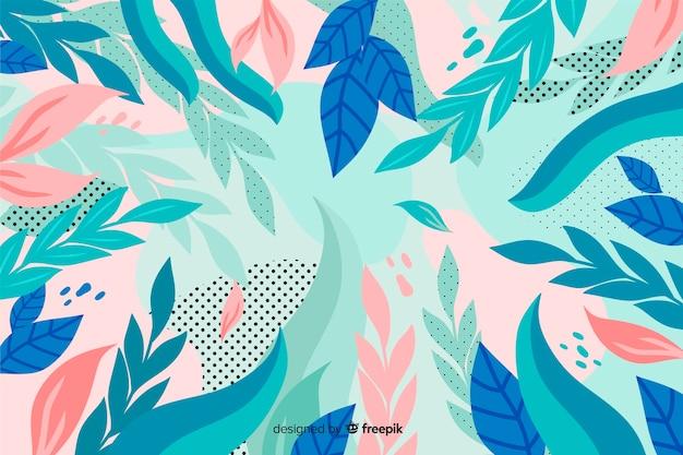 Fondo floral abstracto dibujado a mano vector gratuito