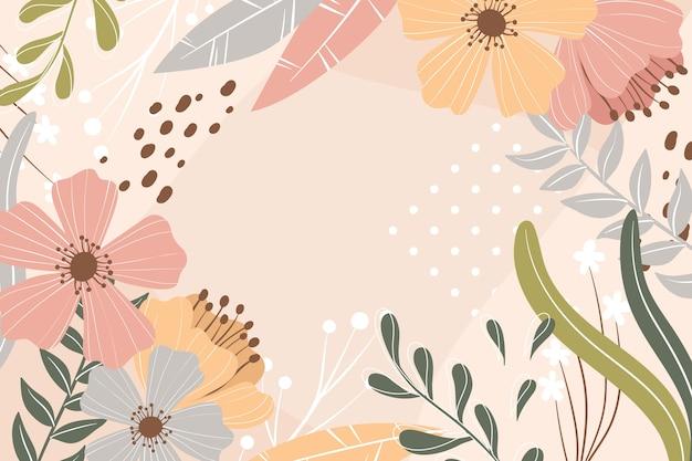 Fondo floral abstracto en diseño plano Vector Premium