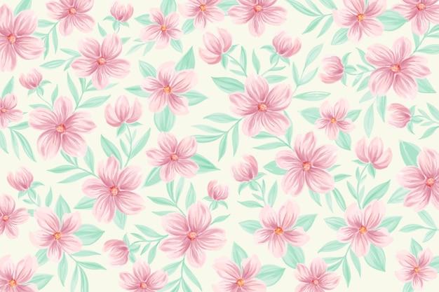 Fondo floral acuarela con colores suaves vector gratuito