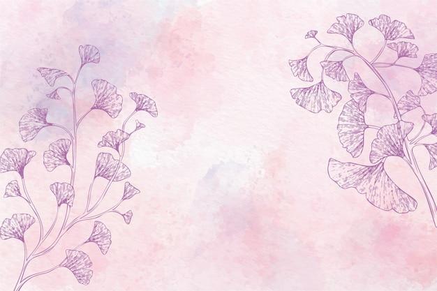 Fondo floral acuarela en monocromo vector gratuito