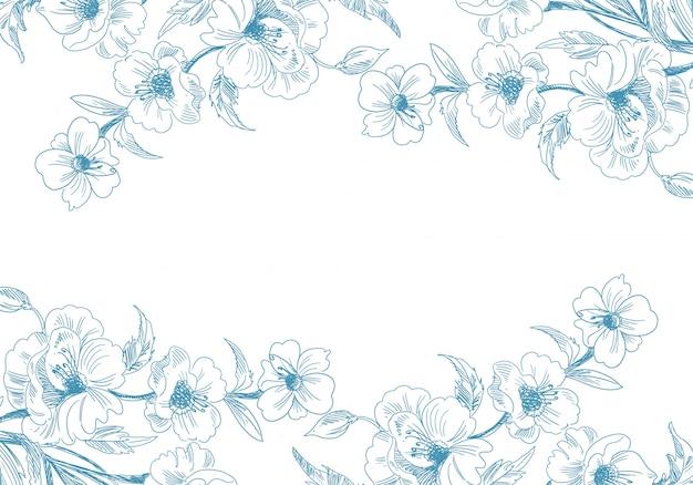 Fondo floral artístico dibujo decorativo vector gratuito