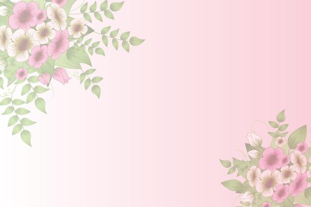 Fondo Floral Del Vector Con El Ornamento De Las Flores En
