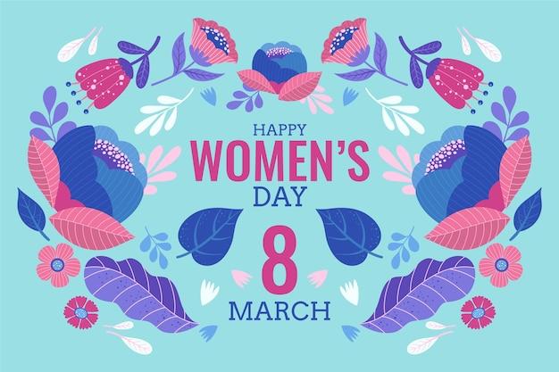 Fondo floral del día de la mujer vector gratuito