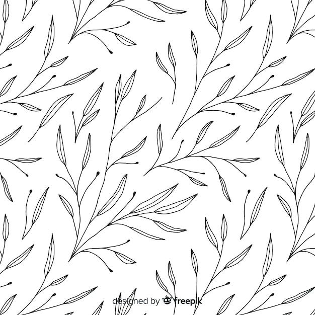 Fondo floral dibujado a mano vector gratuito