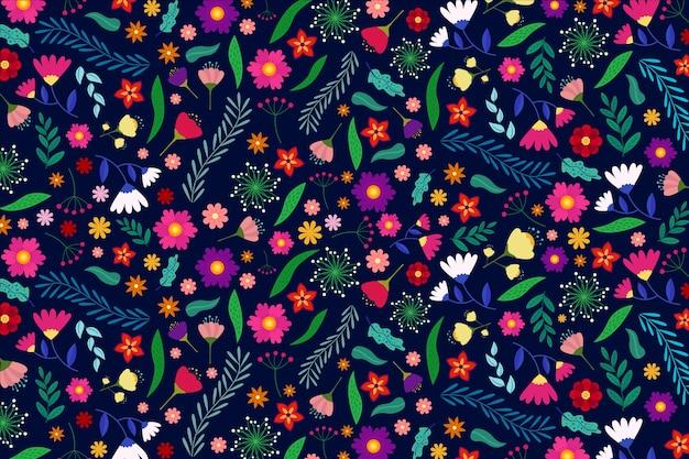 Fondo floral ditsy colorido vector gratuito