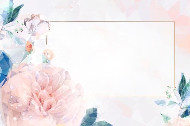 Fondo floral de ensueño enmarcado. vector gratuito