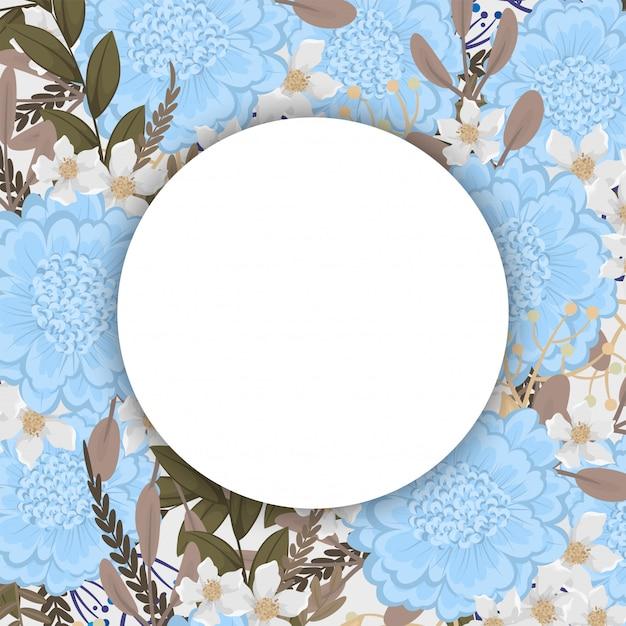 Fondo floral con espacio en blanco redondo vector gratuito