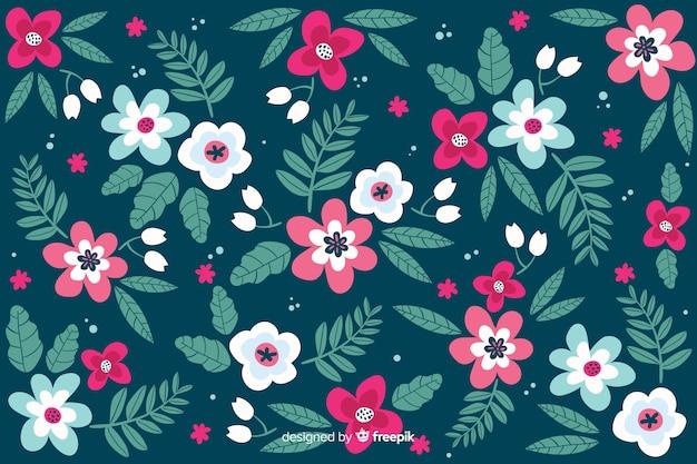 Fondo floral en estilo ditsy vector gratuito