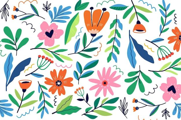 Fondo floral exótico colorido Vector Premium