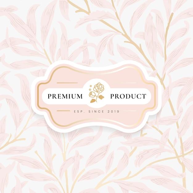Fondo floral con marco ornamental centrado. vector gratuito