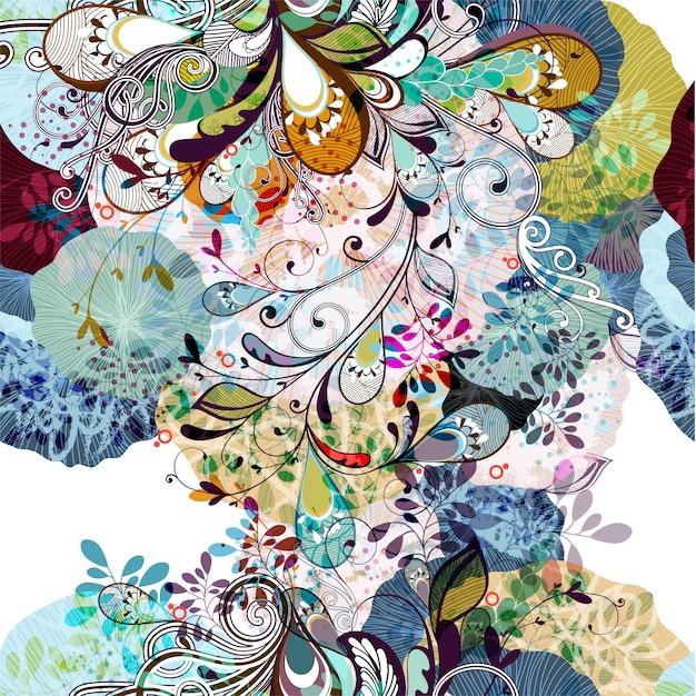 Fondo floral multicolor vector gratuito