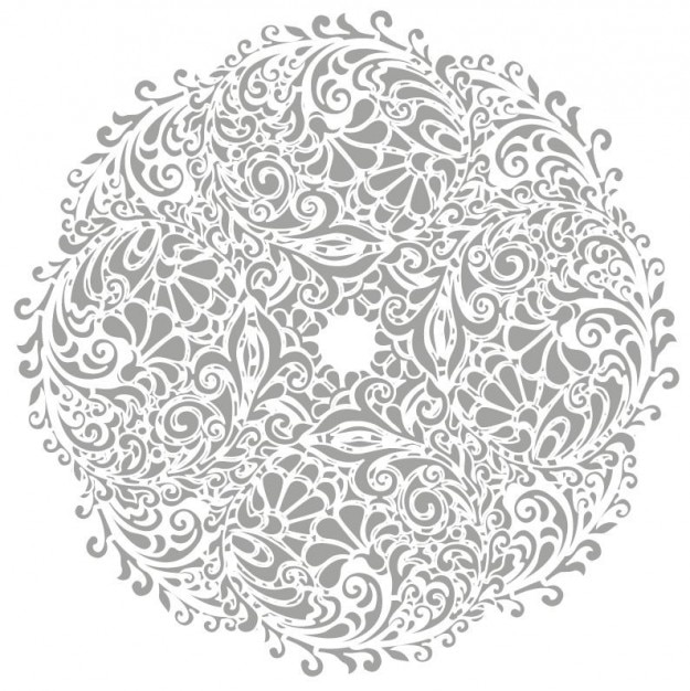 Fondo floral ronda de ilustración vectorial Vector Gratis