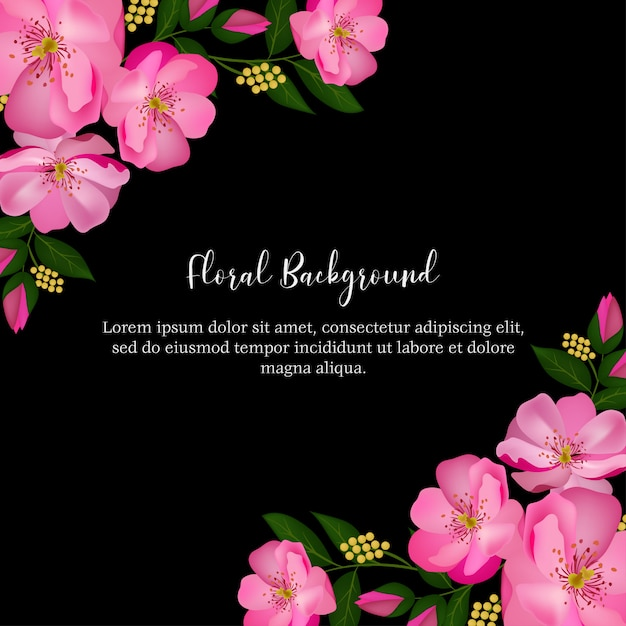 Fondo floral rosa rosa multiuso Vector Premium