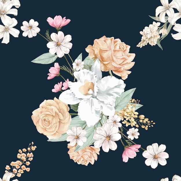 Fondo floral vector gratuito