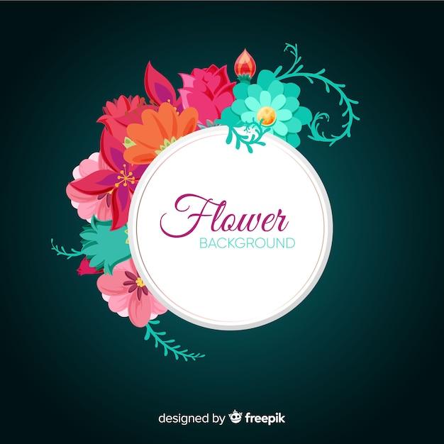 Fondo de flores en 2d vector gratuito