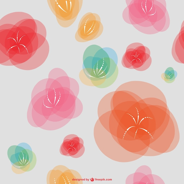 Fondo de flores abstractas  203f433eb961