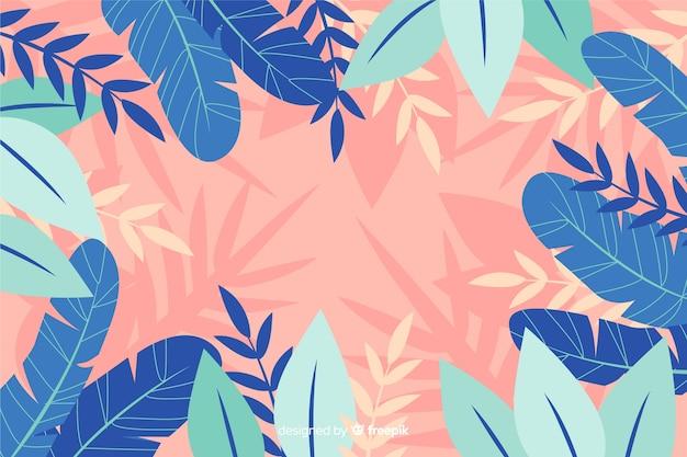 Fondo de flores abstracto dibujados a mano vector gratuito