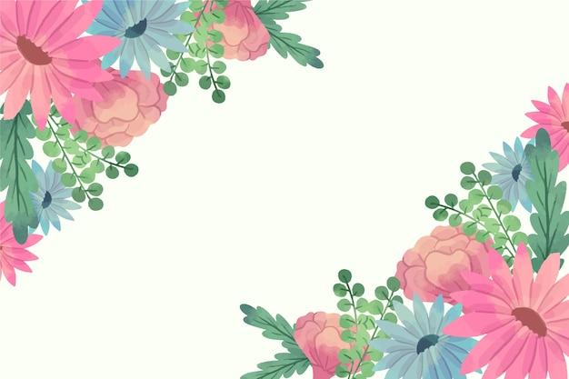 Fondo de flores acuarela en colores pastel vector gratuito