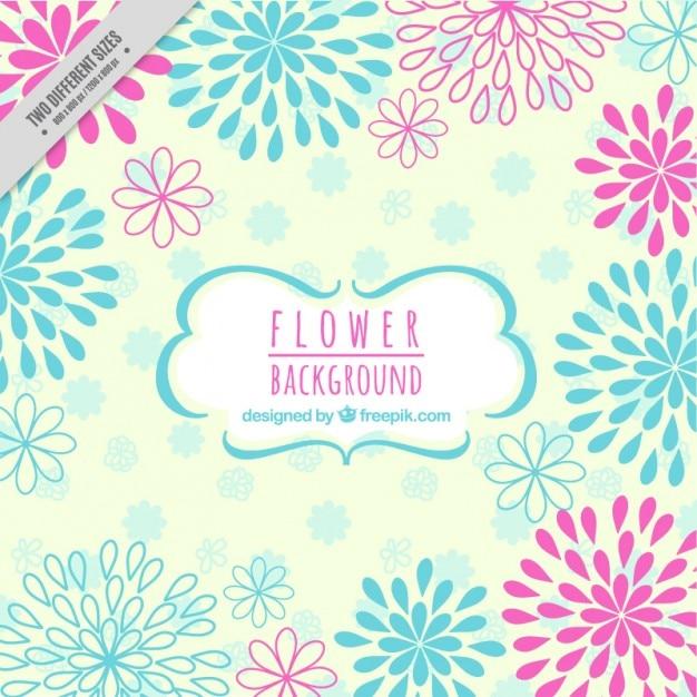 Fondo De Flores De Colores Abstractas Dibujadas A Mano Descargar