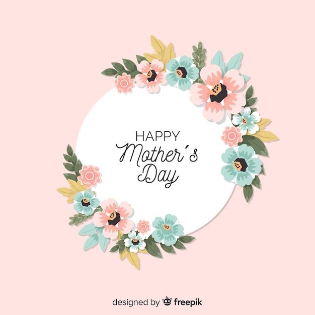 Fondo de flores del día de la madre vector gratuito