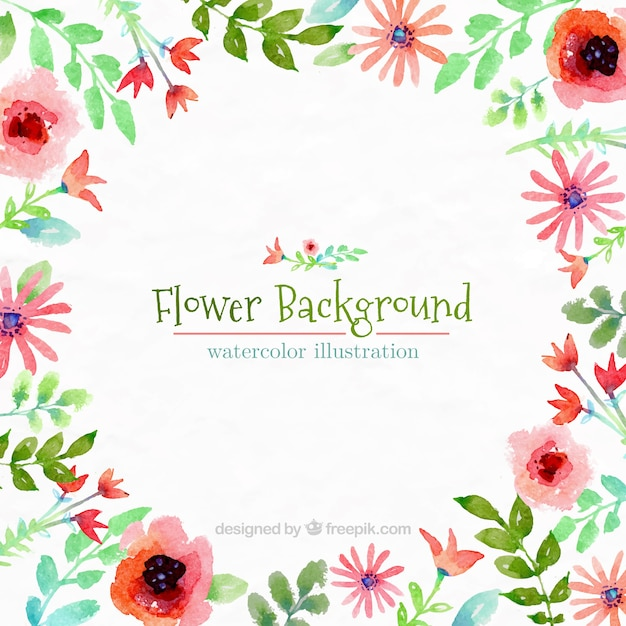 Fondo De Flores Pintado A Mano