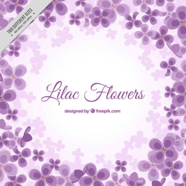 Fondo florido en color morado   Descargar Vectores gratis