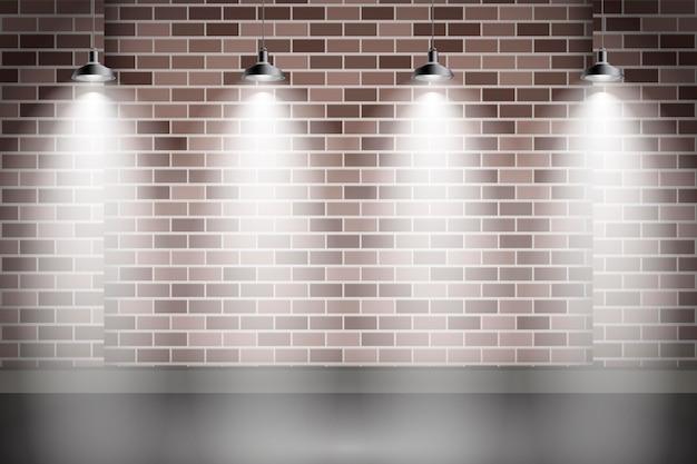 Fondo de focos iluminando la pared vector gratuito