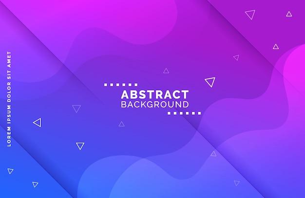 Fondo de forma fluida degradado abstracto con formas triangulares Vector Premium