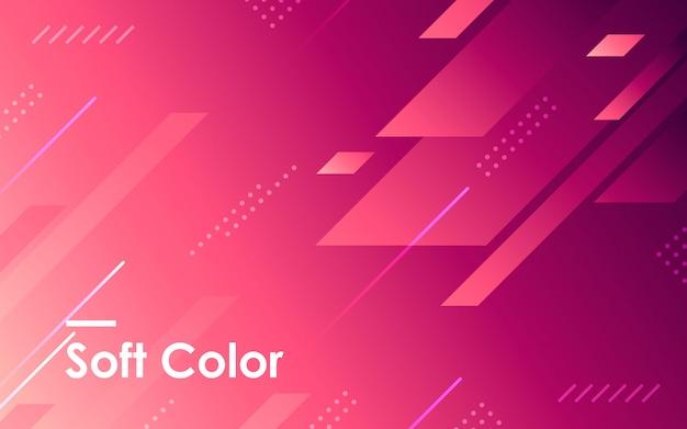 Fondo de forma geométrica degradado púrpura Vector Premium