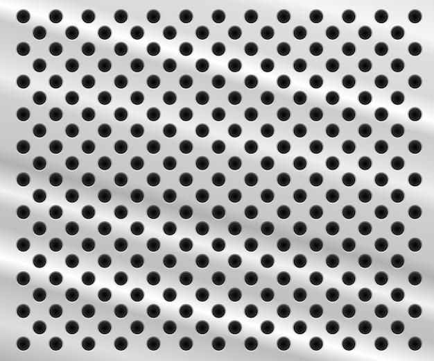 Fondo en forma de hoja de aluminio con agujeros vector gratuito