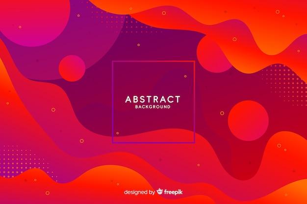 Fondo de formas abstractas gradiente vector gratuito