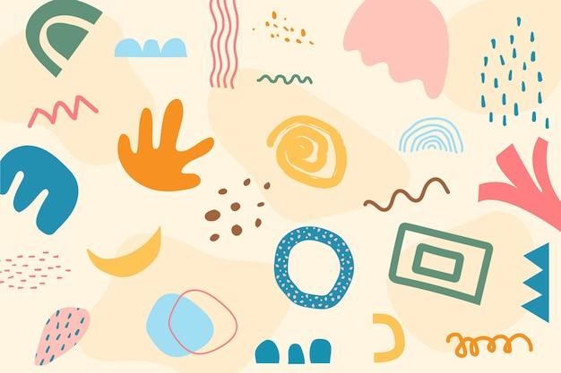 Fondo de formas abstractas pastel Vector Premium